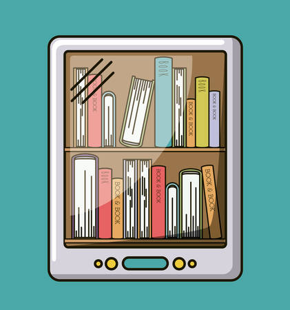 electronic book: electronic book isolated icon vector illustration design