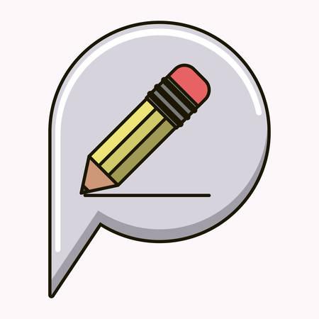 grafit: ołówek szkoły samodzielnie ikona ilustracja wektora projektowania