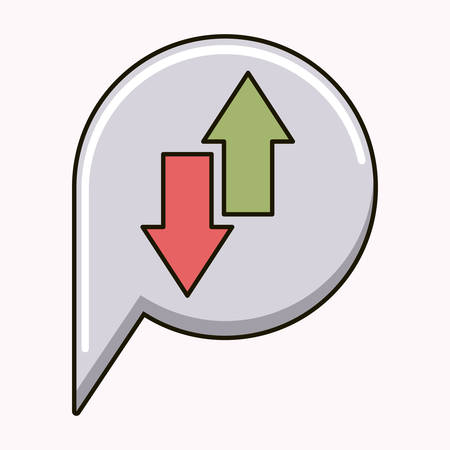 two point: arrows up and down isolated icon vector illustration design