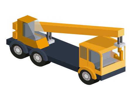 machinery construction isometric isolated icon vector illustration design Illustration