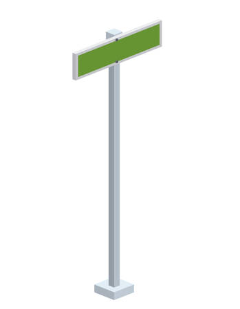traffic signal: traffic signal isometric icon vector illustration design Illustration