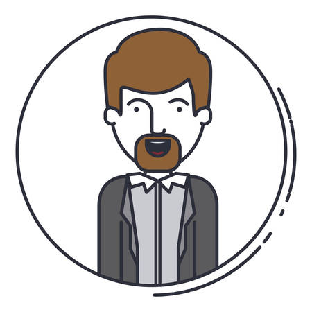 young man avatar isolated icon vector illustration design Illustration