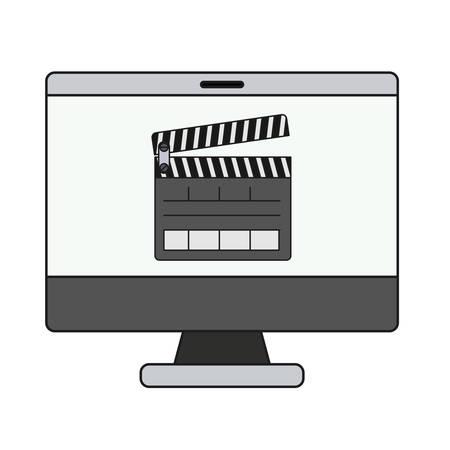 fil: computer desktop isolated icon vector illustration design Illustration