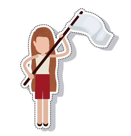 protest: person avatar protest isolated icon vector illustration design