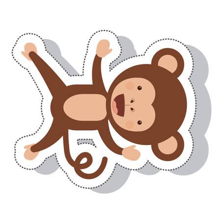 primates: funny monkey isolated icon vector illustration design