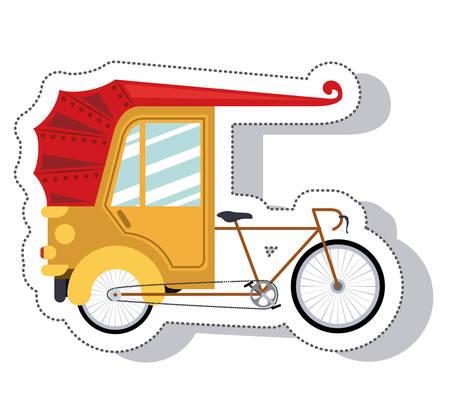 rikscha: Rikscha-Service isoliert Symbol Vektor-Illustration, Design,