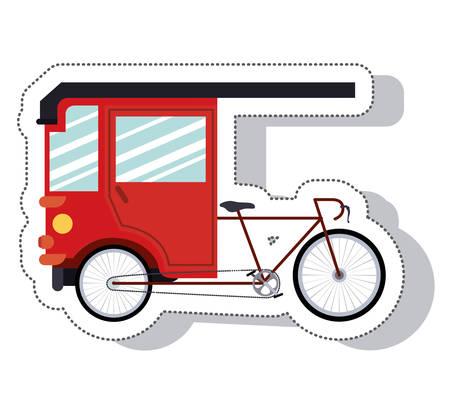 rikscha: rickshaw service isolated icon vector illustration design