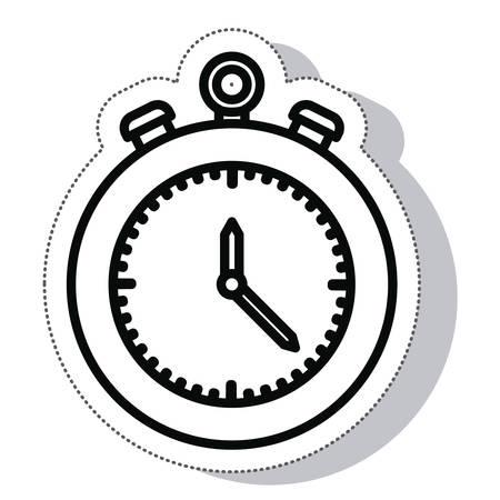 chronometer: chronometer timer isolated icon vector illustration design