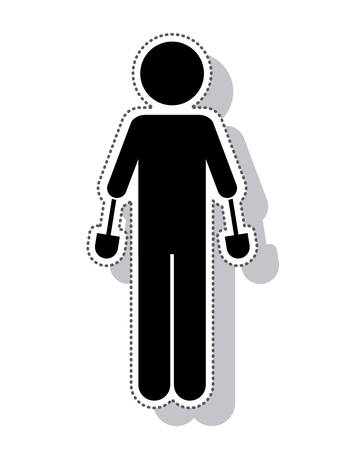 prothesis: person with implant vector illustration design vector illustration design
