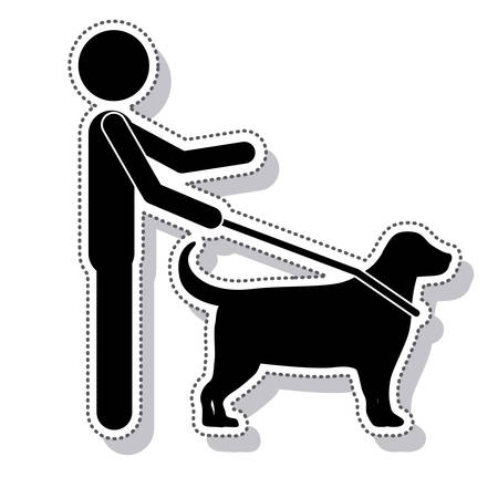 blind person: silhouette blind person isolated icon vector illustration design