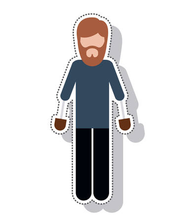 prothesis: person avatar with implant vector illustration design Illustration