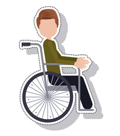 invalid: wheelchair silhouette isolated icon vector illustration design