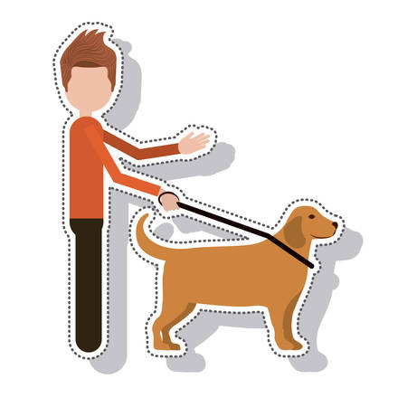 silhouette blind person isolated icon vector illustration design