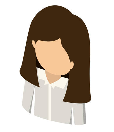 user icon: woman avatar isometric isolated vector illustration design