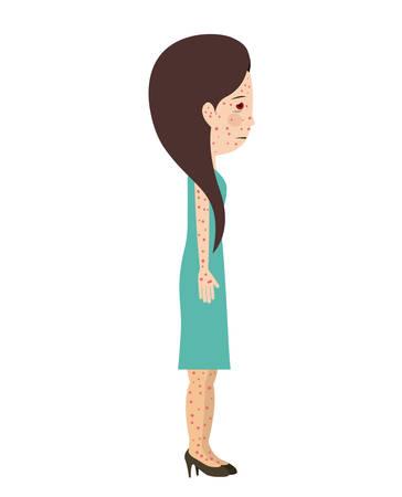 sickly: avatar person sick isolated vector illustration design Illustration