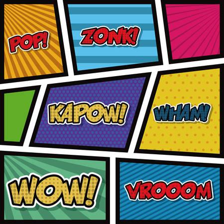 poster art: pop art background style poster vector illustration design