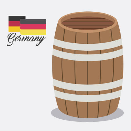 ale: beer barrel ale germany vector illustration design