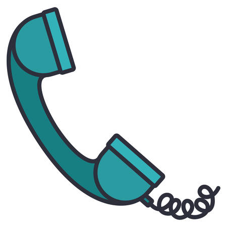 telephone phone isolated icon vector illustration design