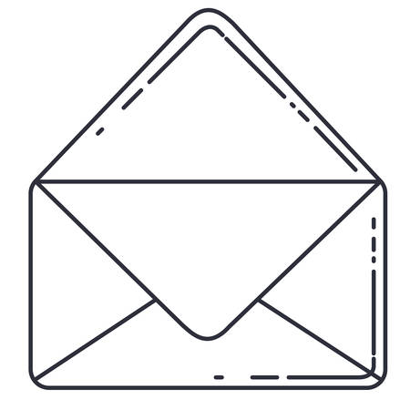 spamming: envelope message isolated icon vector illustration design