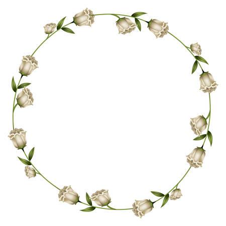 couronne cercle décoration florale isolé vecteur icône illustration design