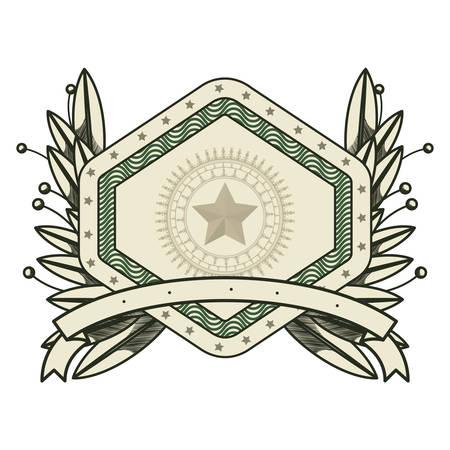 dollar emblem seal isolated icon vector illustration design