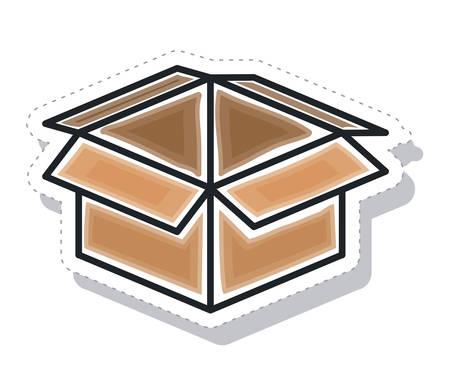 boîte de carton d'emballage icône isolé illustration vectorielle conception