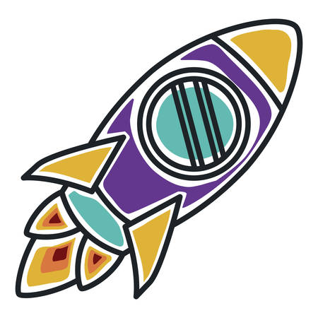 launcher: rocket startup launcher isolated icon vector illustration design Illustration