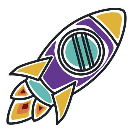 launcher: rocket startup launcher isolated icon vector illustration design Illustration