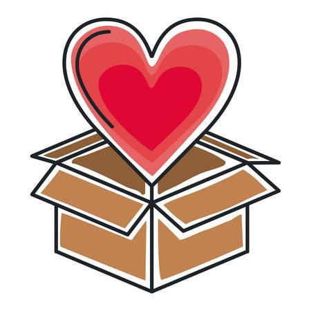 boîte de carton d'emballage icône isolé illustration vectorielle conception Vecteurs