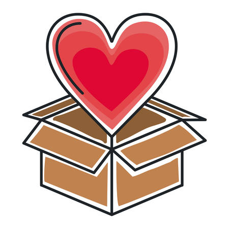 small group of objects: box carton packing isolated icon vector illustration design