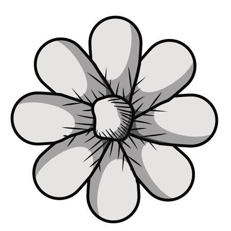 beau dessin de fleurs vecteur isolé illustration design Vecteurs