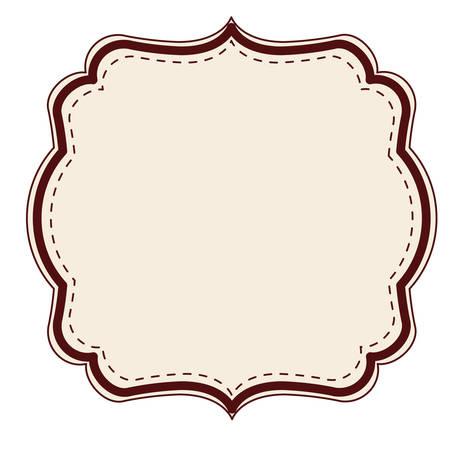decoration design: elegant frame decoration isolated vector illustration design