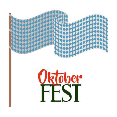 bavarian culture: oktober fest invitation poster vector illustration design