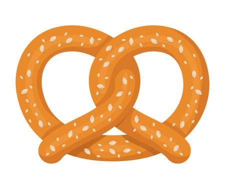 delicious pretzel isolated icon vector illustration design