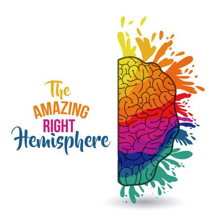 the amazing brain isolated vector illustration design