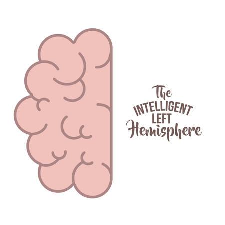 brain human organ isolated icon vector illustration design Vectores