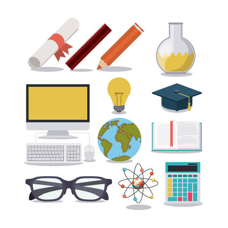 education supplies concept isolated icon vector illustration design Illustration