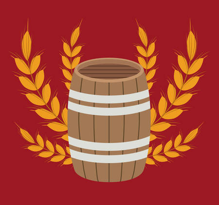 barrel beer drink beverage traditional icon. Colorful and Flat design. Vector illustration