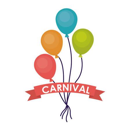 the performer: balloons carnival festival circus fair celebration  icon. Colorful design. Vector illustration Illustration