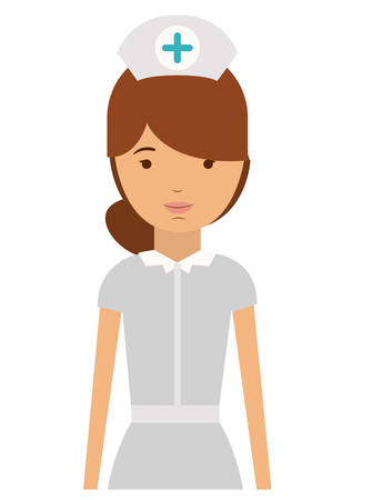 labourer: nurse woman and cartoon icon. profession worker and occupation theme. Isolated design. Vector illustration