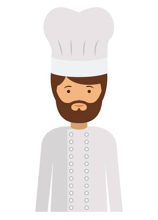 labourers: chef man and cartoon icon. profession worker and occupation theme. Isolated design. Vector illustration Illustration