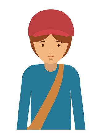 labourers: delivery man and cartoon icon. profession worker and occupation theme. Isolated design. Vector illustration