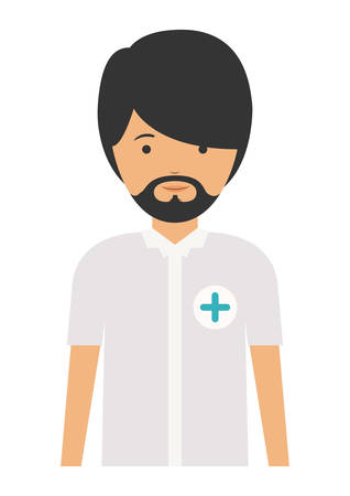 laborer: nurse man and cartoon icon. profession worker and occupation theme. Isolated design. Vector illustration