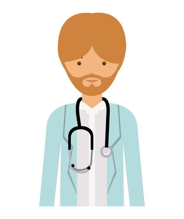 labourer: doctor man and cartoon icon. profession worker and occupation theme. Isolated design. Vector illustration Illustration