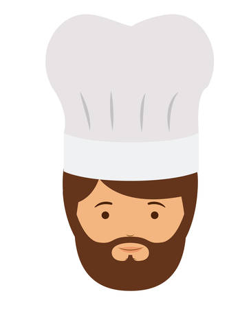 labourer: chef man and cartoon icon. profession worker and occupation theme. Isolated design. Vector illustration Illustration
