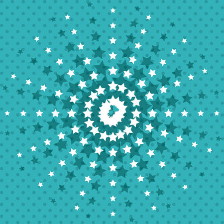 pointed: pointed stars background wallpaper decoration effect icon. Colorful design. Vector illustration Illustration