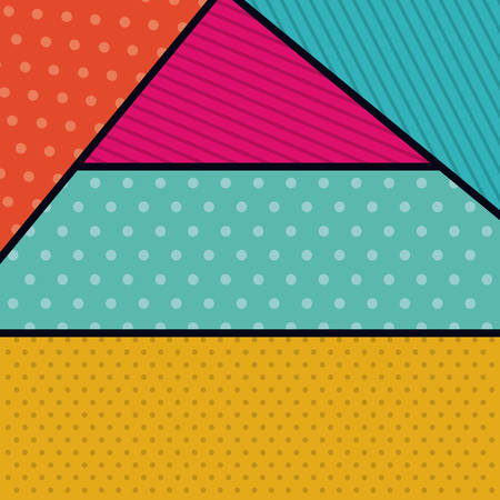 pointed to: pointed striped background wallpaper decoration and effect icon. Multicolored design. Vector illustration