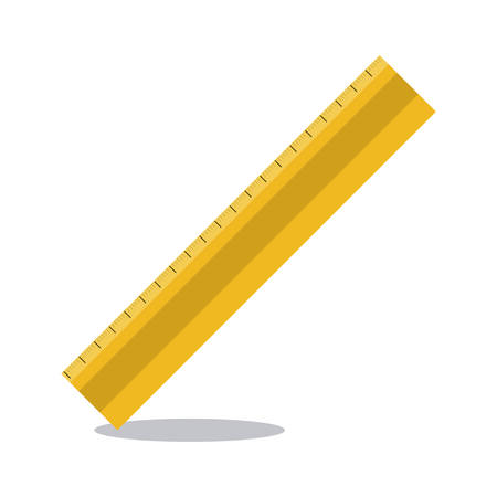 millimeters: Ruler tool icon. Draw write school and instrument theme. Colorful design. Vector illustration