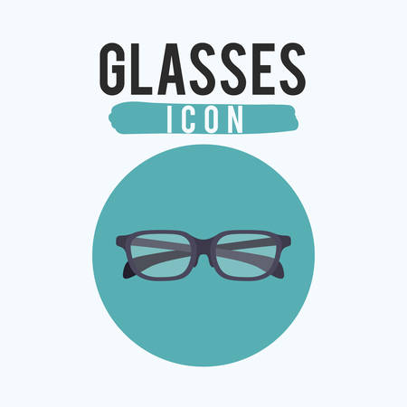 accesory: Black glasses icon. Optical fashion and accesory theme. Vector illustration Illustration