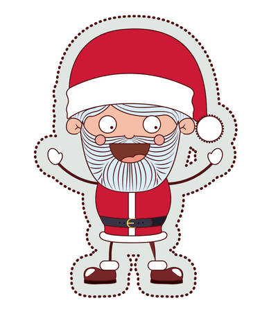 sata: Santa cartoon icon. Merry Christmas season decoration figure theme. Isolated design. Vector illustration